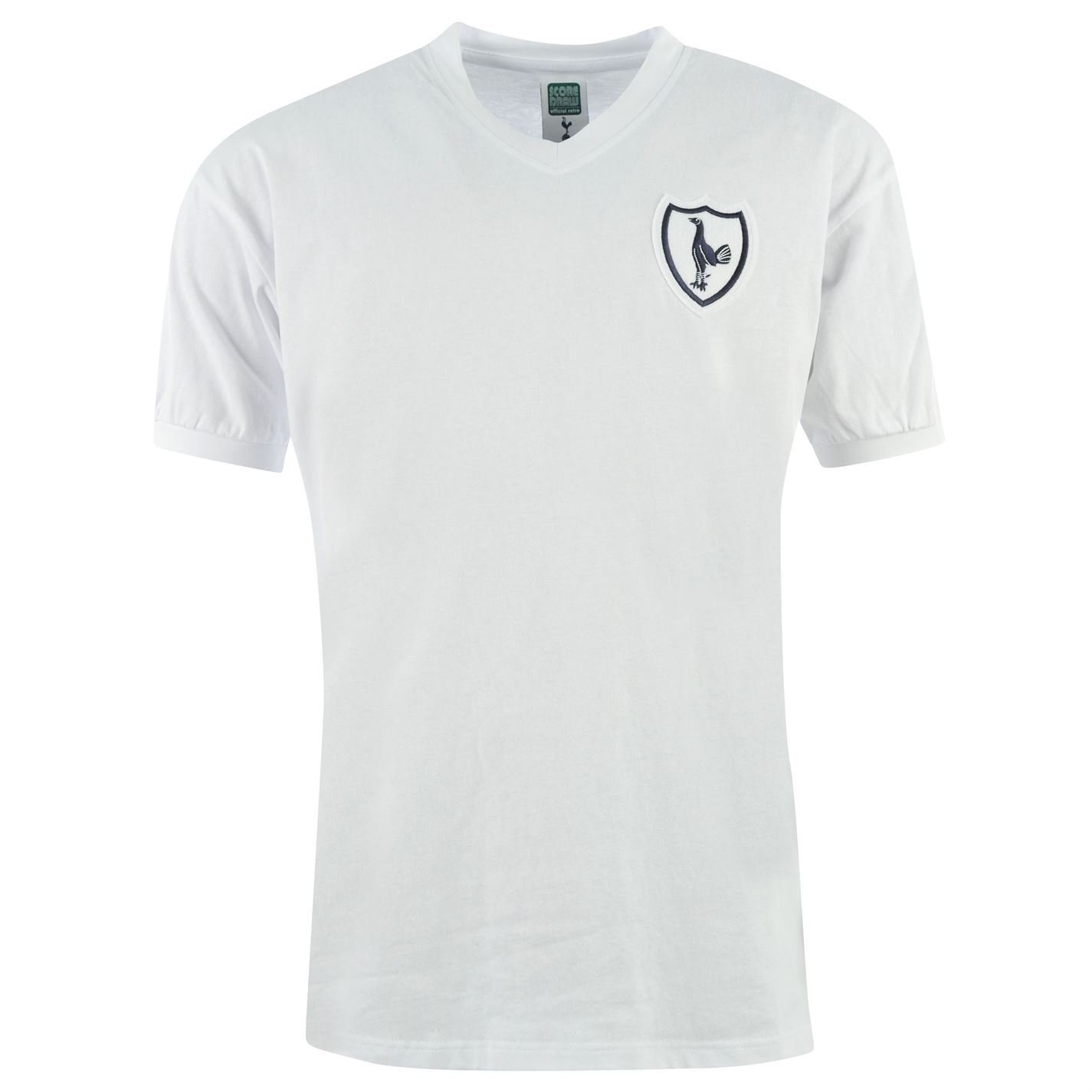 Tottenham Hotspur FC 1962 Home Jersey Score Draw Mens Retro Football Soccer Top
