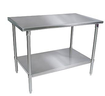 Amazoncom John Boos STSSK Gauge Stainless Steel Work - 16 gauge stainless steel table