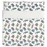 Little Creatures Duvet Bed Set 3 Piece Set Duvet Cover - 2 Pillow Shams - Luxury Microfiber, Soft, Breathable