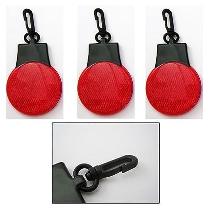 Amazon com : 3 Flashing Reflector Light Key Chain Mini