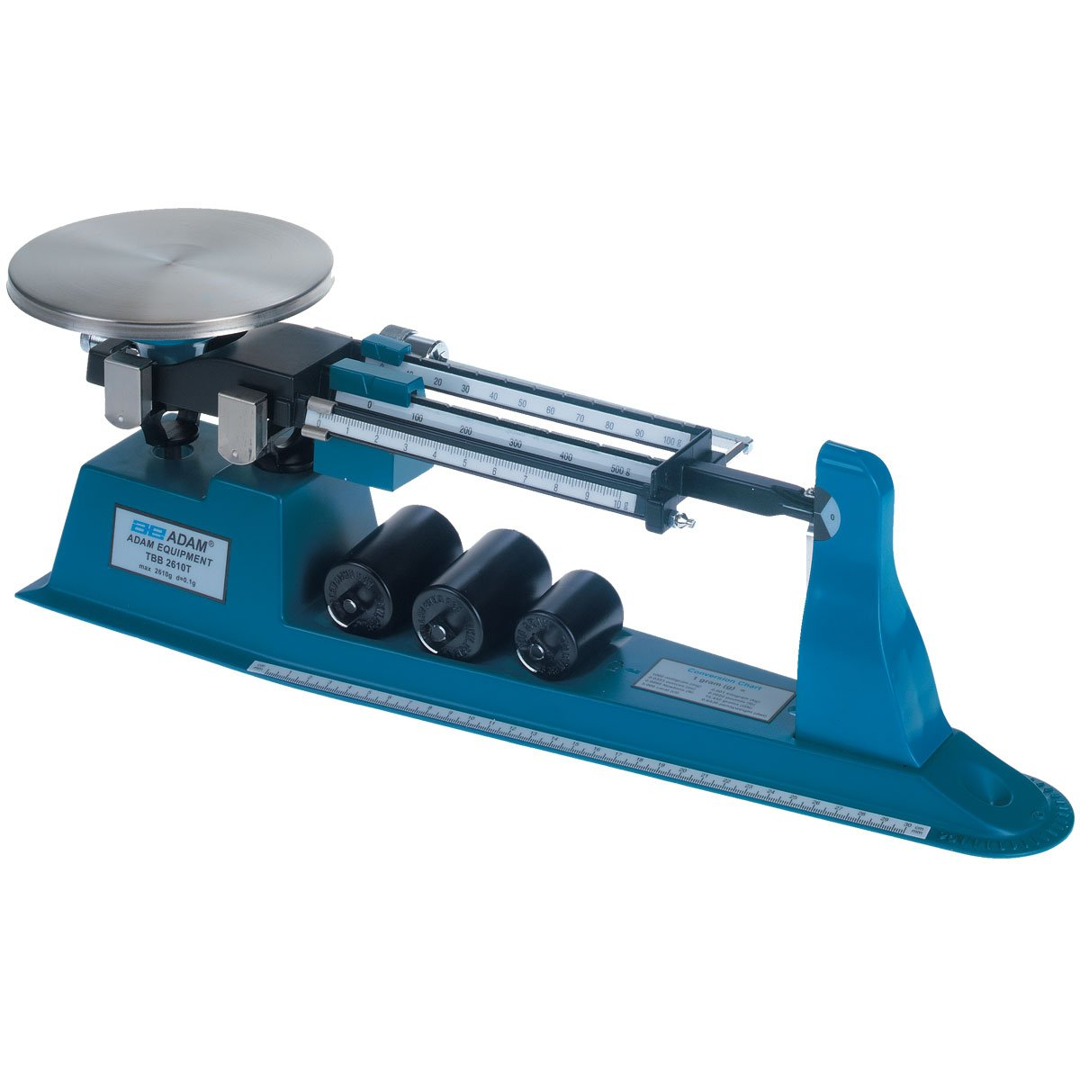 Adam Equipment TBB 2610S Triple Beam Mechanical Balance, 2610g Capacity, 0.1g Readability TBB2610S