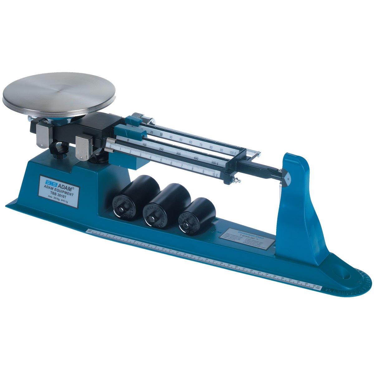 Adam Equipment TBB 2610S Triple Beam Mechanical Balance, 2610g Capacity, 0.1g Readability
