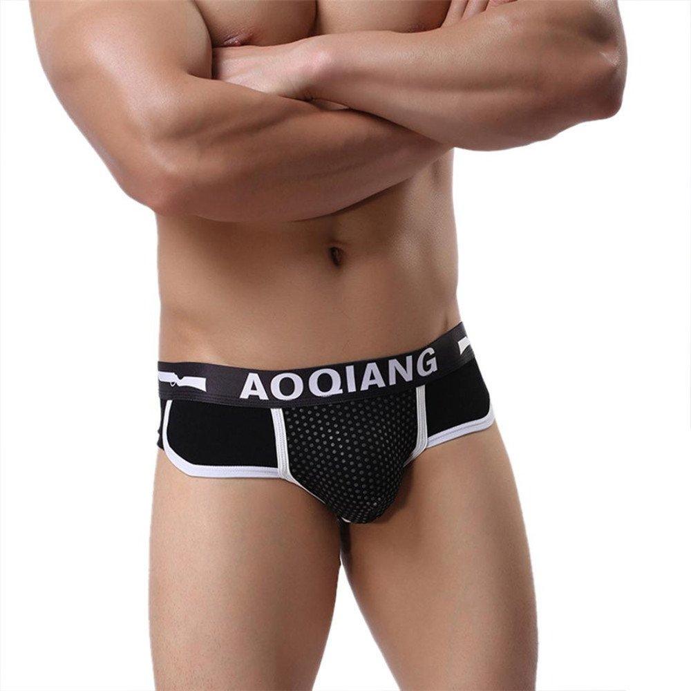 Simayixx underwear UNDERWEAR メンズ B07B6KQYVM Large|ブラック ブラック Large