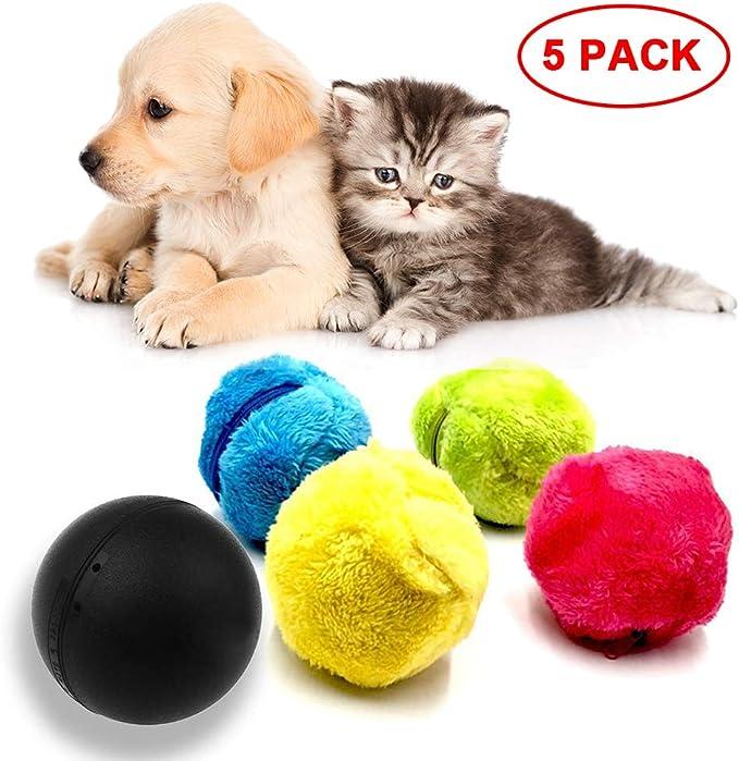 Chuanglan - Pelota de Perro, Bola mágica para Perros, 1 Pelota de Perro Indestructible, Incluye 4 Fundas de Color al Azar: Amazon.es: Productos para mascotas