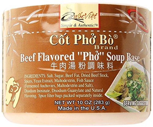 """Quoc Viet Foods Beef Flavored """"PHO"""" Soup Base, 10 oz. Jar, 1 Unit"""