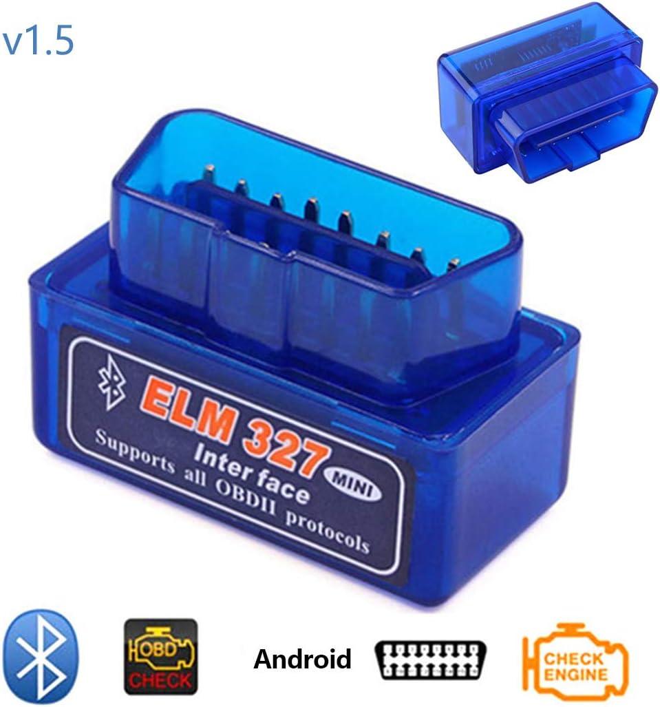 Bluetooth OBD 1.5 Car Diagnostic Scanner Reader ELM 327 Compruebe la luz del Motor para Android
