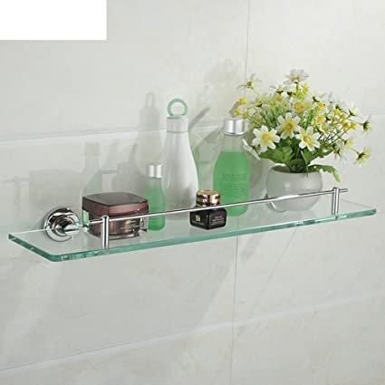 Gold-plated glass shelves/ bathroom and dressing table/Wall hanging ...