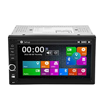 Car Multi Media System 7 \ pantalla táctil FM/AM Radio Bluetooth Amplificador Soporte