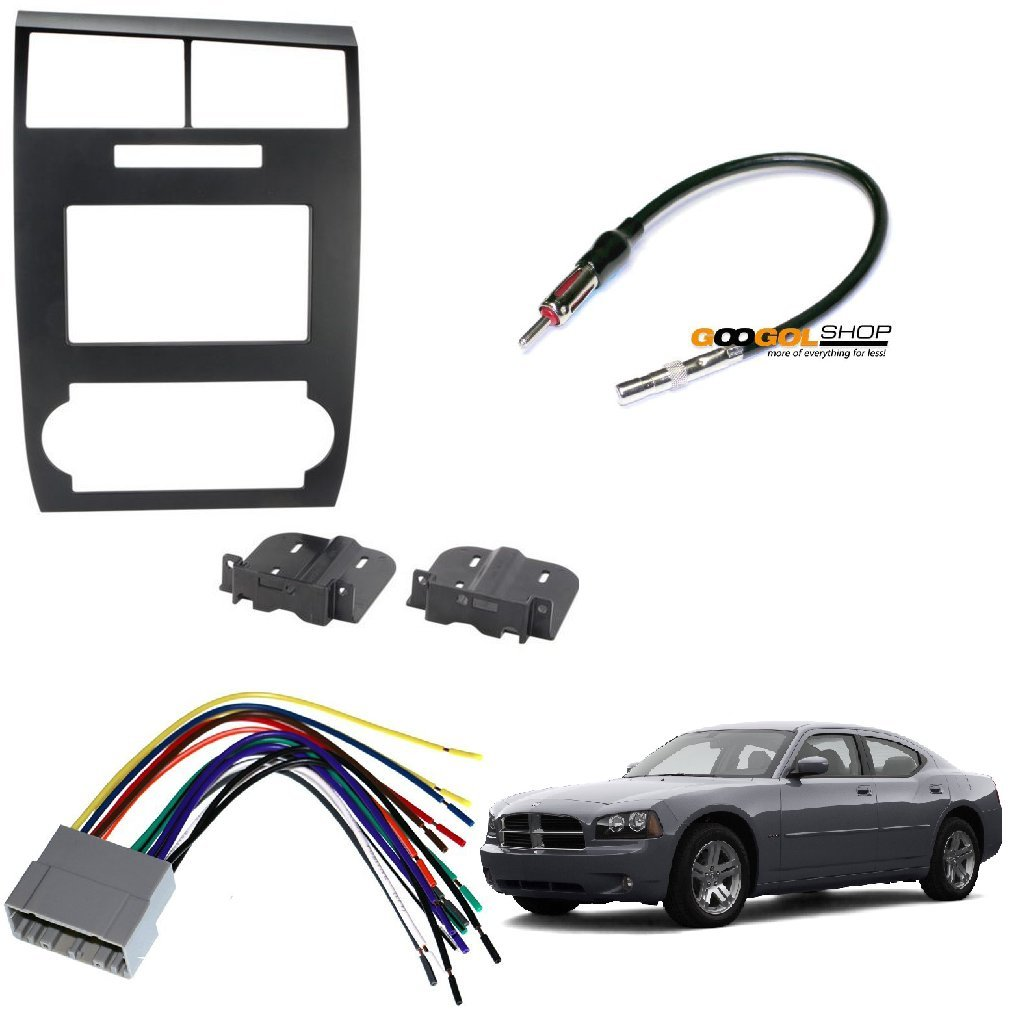 Scosche Cr1295ddb Double Din Dash Kit For 2005 2007 Wiring Harness 2011 Colorado Dodge Magnum Charger Wire Antenna Car Electronics