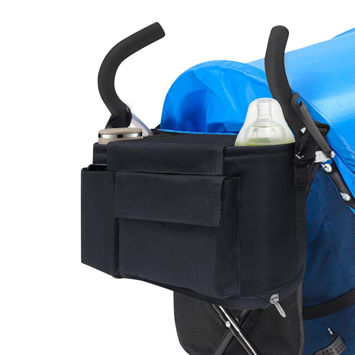 Bolsa organizadora para cochecito de bebé, 6 amLifestyle, bolsa de almacenamiento para cochecitos de bebé, bolsa de almacenamiento universal extragrande para madres inteligentes para guardar teléfonos, carteras, pañales, libros, juguetes, botellas de agua