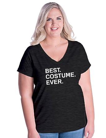8956843af79 Amazon.com  Sunshine Mountain Tees Womens Plus Size Halloween Costume Curvy  V-Neck Shirt  Clothing