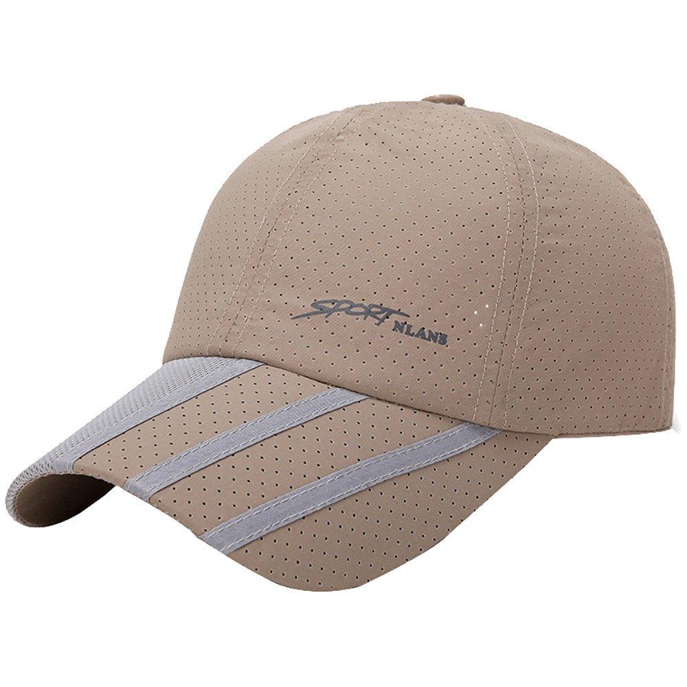 CSSD Fashion Baseball Caps for Men Outdoor Sport Golf Gentleman Style Sun Hats (Beige)