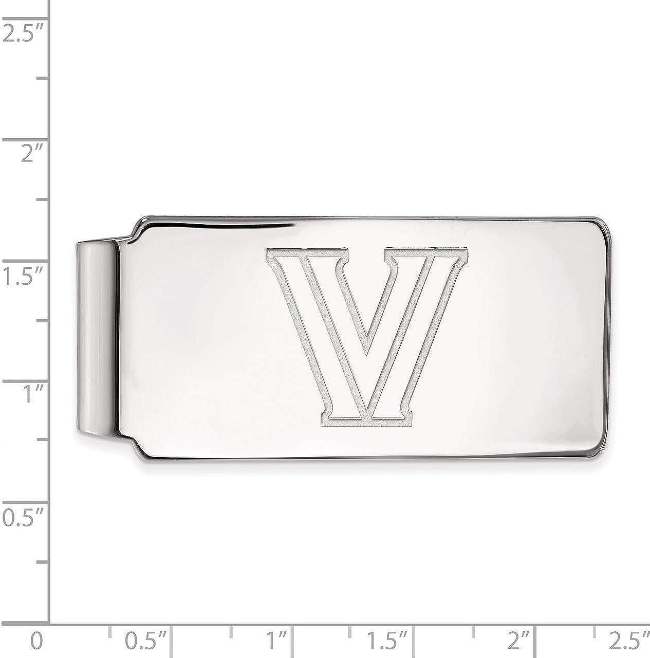 Lex /& Lu LogoArt Sterling Silver Villanova University Money Clip