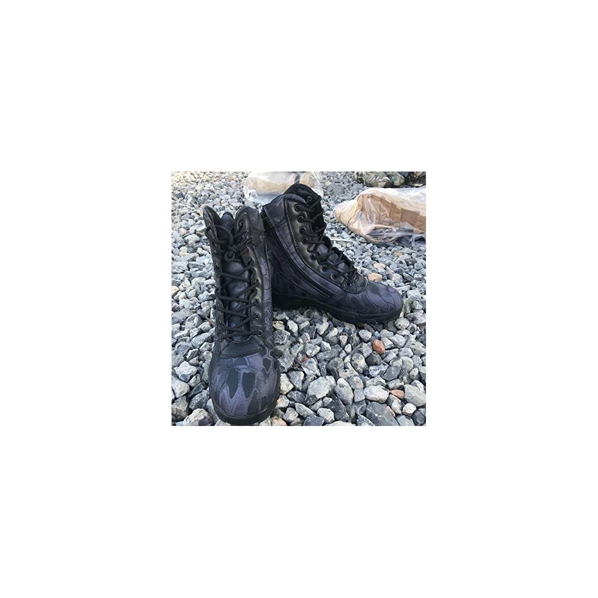Hcbyj Scarpa Desert Boots Scarpe Da Trekking All'aperto Stivali Combattimento Tattiche Traspiranti Resistenti All'usura