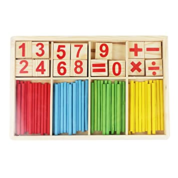 Juguetes Juegos Educativos Matemáticas Palos Madera Contar Aprendizaje