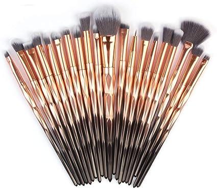23 Unidades Pinceles de Maquillaje Set Powder Foundation Eyeshadow ...