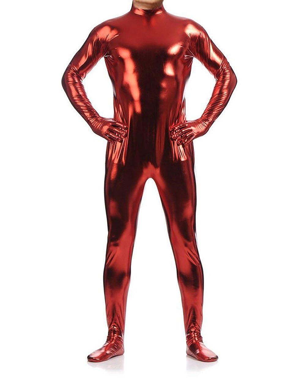 Ensnovo Unisex Shiny Metallic Body Suits Wet Look Spandex Costume Unitard 22-07-1361-CA