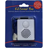 EZSound Box - 10 inch Extension Play Button for Stuffed Animals, Craft Projects, School Presentations, Hobbies, Personalized Items, Model Trains, etc - 200 seconds - Rerecordable thru Audio Port