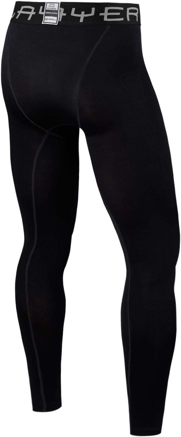 PowerLayer Homme /& Gar/çon Collant de Compression Base Layer de Sport Thermique