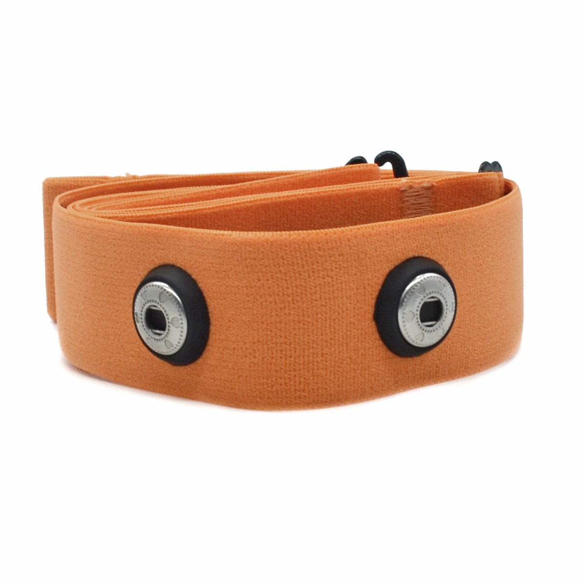 Cinghia per cardiofrequenzimetro Garmin, Wahoo e Polar, regolabile, da posizionare sul petto, ideale per sport e fitness, CooSpo Original HRM Belt Orange product image