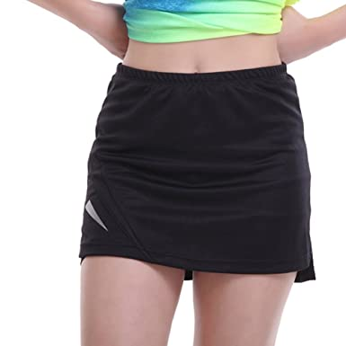 3fdf449b3e Tennis Skirt Sports Skort, Womens Running Skirts with Inner Shorts, Anti  Exposure for Fitness Jogging Sports Gym: Amazon.co.uk: Clothing