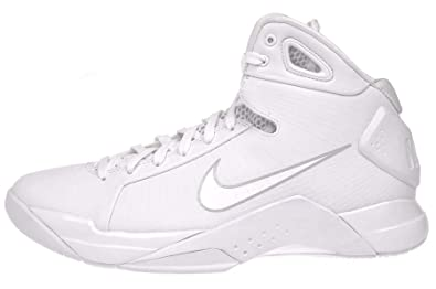 NIKE Men\u0027s Hyperdunk \u002708 Basketball Shoe-White/White-PurePlatinum-8