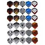 Taloyer Pack of 30pcs High Quality Dart Flights Nice Dart Wings Tails Accessories Assorted Popular Designs
