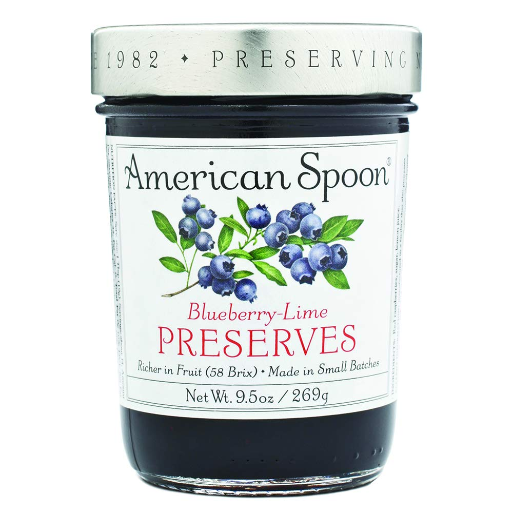 American Spoon Foods Blueberry Lime Preserves Pack of 4
