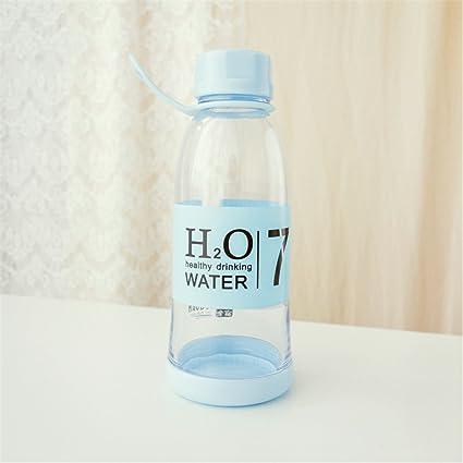 Moda creativa el tazón de agua de plástico de una botella de agua deportiva Copa portable