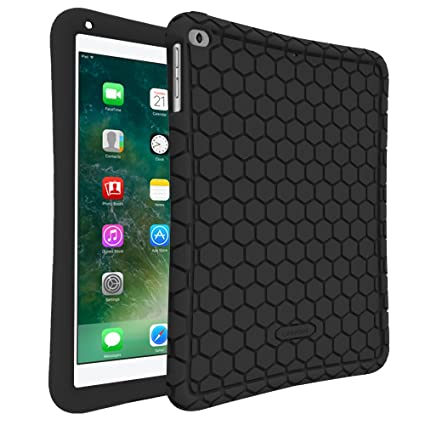 amazon com fintie ipad 9 7 2018 2017 ipad air 2 ipad air casefintie ipad 9 7 2018 2017 ipad air 2 ipad air case [honey comb series] light weight anti slip kids friendly shock proof silicone protective cover for