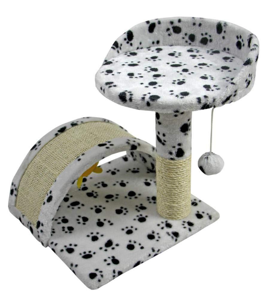 B Aoligei Cat Play Towers & Trees Station Multifunctional natural sisal Cat platform Cat Scratch small cat rack cat Pet Supplies 43  42  42cm