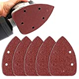 Coceca 50PCS 80 Grits Mouse Detail Sander Sandpaper Sanding Paper