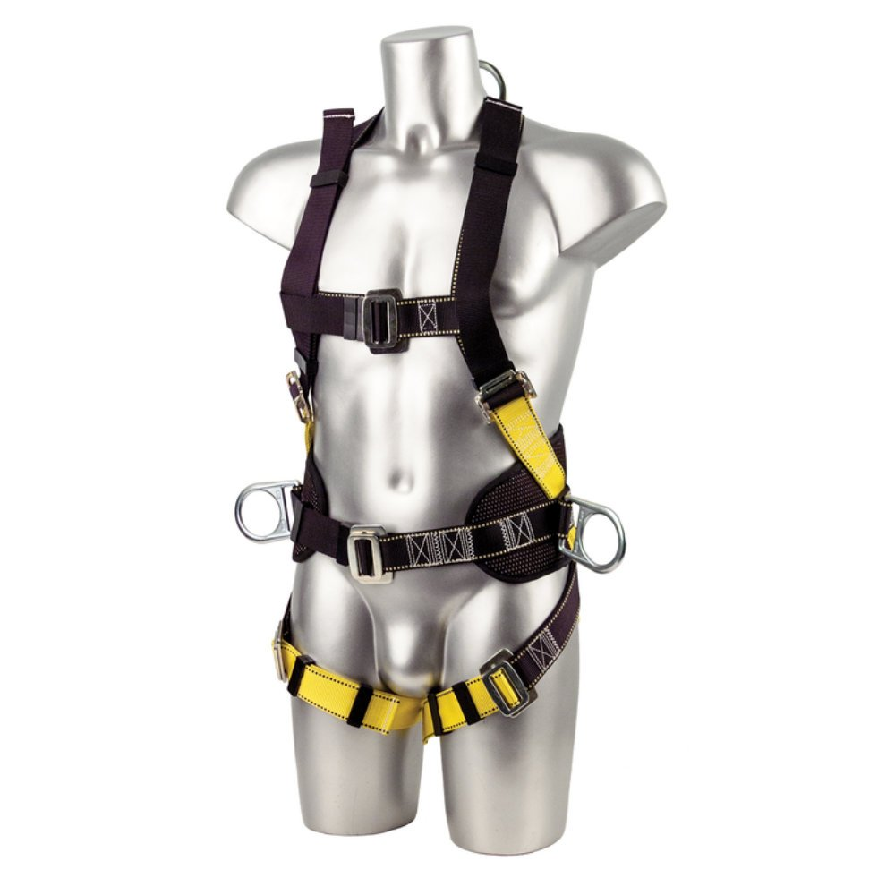 Black//Yellow Regular Portwest FP15BKR 2 Point Harness Comfort Plus