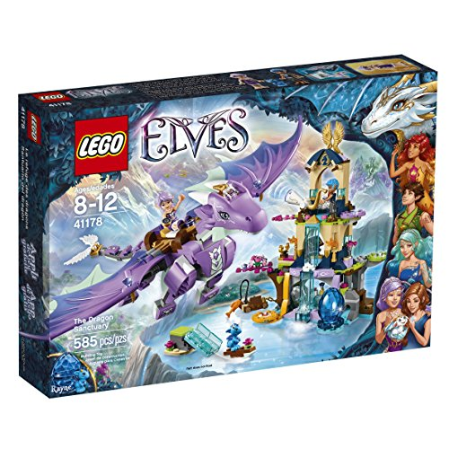 Amazon.com: LEGO Elves 41178 The Dragon Sanctuary Building Kit (585 ...