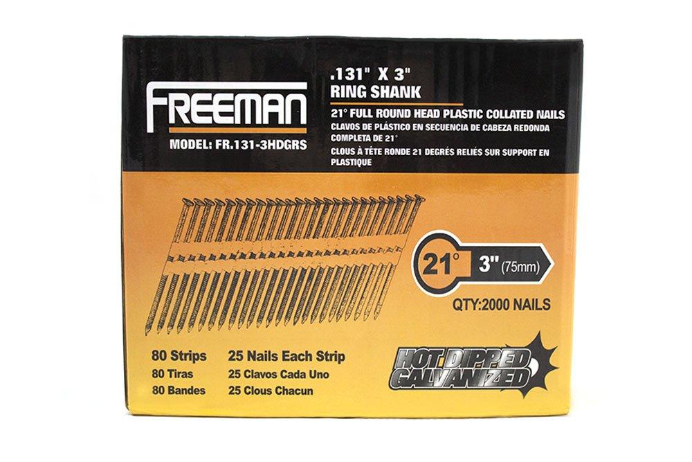 Freeman FR. 131 - 3hdgrs 20 Grado - 21 Degree cabeza redonda con ...