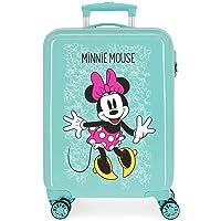 Disney Minnie Enjoy The Day Maleta de Cabina Verde 40x55x20 cms Rígida ABS Cierre combinación 34L 2,8Kgs 4 Ruedas Dobles…