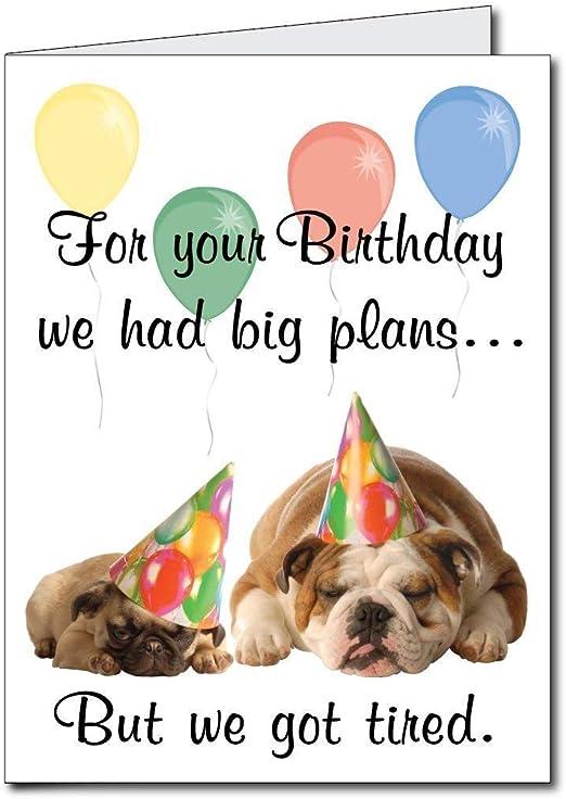 Amazon.com: 2 x3 gigante tarjeta de cumpleaños (diseño ...