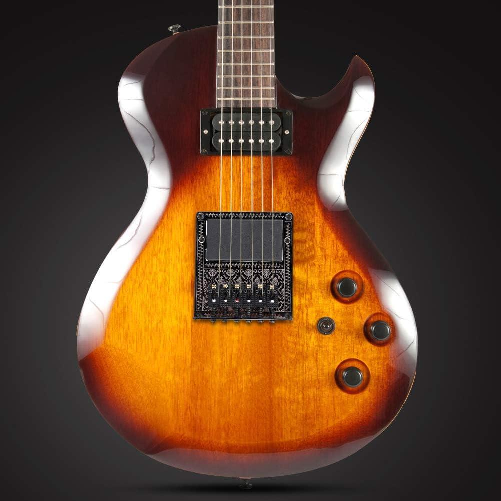 Silla magn/ética Puente de Guitarra Ranura de Recogida Humbucker con Llave de Tornillo para Guitarras el/éctricas TL Telecaster Fafeims Placa de 6 Cuerdas para Puente de Silla de Montar