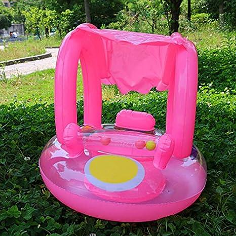 Flotador bebes-Flotador para bebé con asiento,techo del sol,barca ...