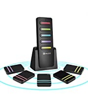 DIGOO Unisex Adult, Nero, Portachiavi, Wireless Key Finder con 5 ricevitori Locator & 1 trasmettitore, Item Tracker Support Telecomando buona Idea per i Tuoi Oggetti persi.