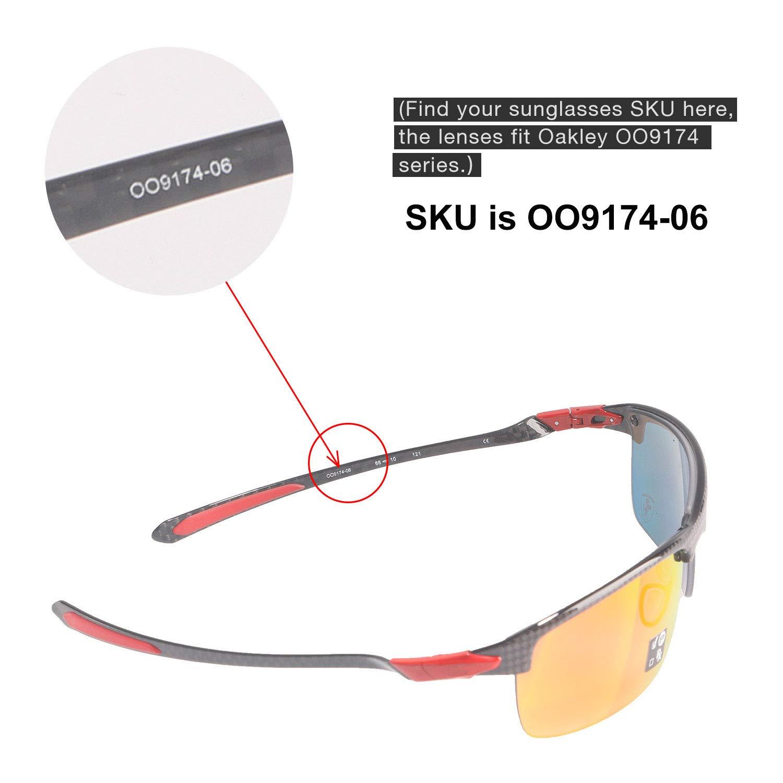 c3fde3e95e247 Amazon.com  Walleva Replacement Lenses for Oakley Carbon Blade Sunglasses -  Multiple Options Available (Black - Polarized)  Sports   Outdoors