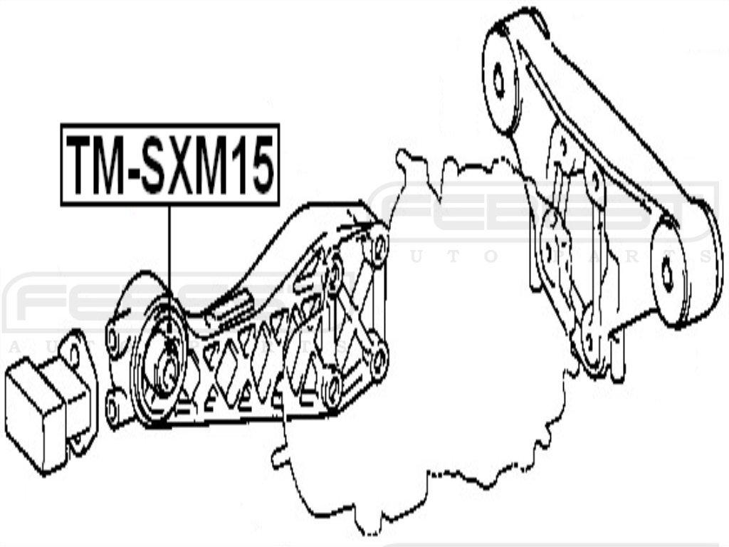 FEBEST TMB-SXM15 Differential Mount Arm Bushing