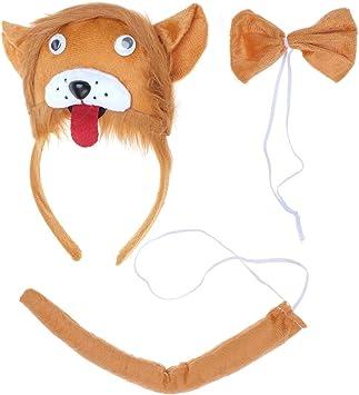 BESTOYARD Disfraz de León para Niños Diadema Animal Conjunto de ...