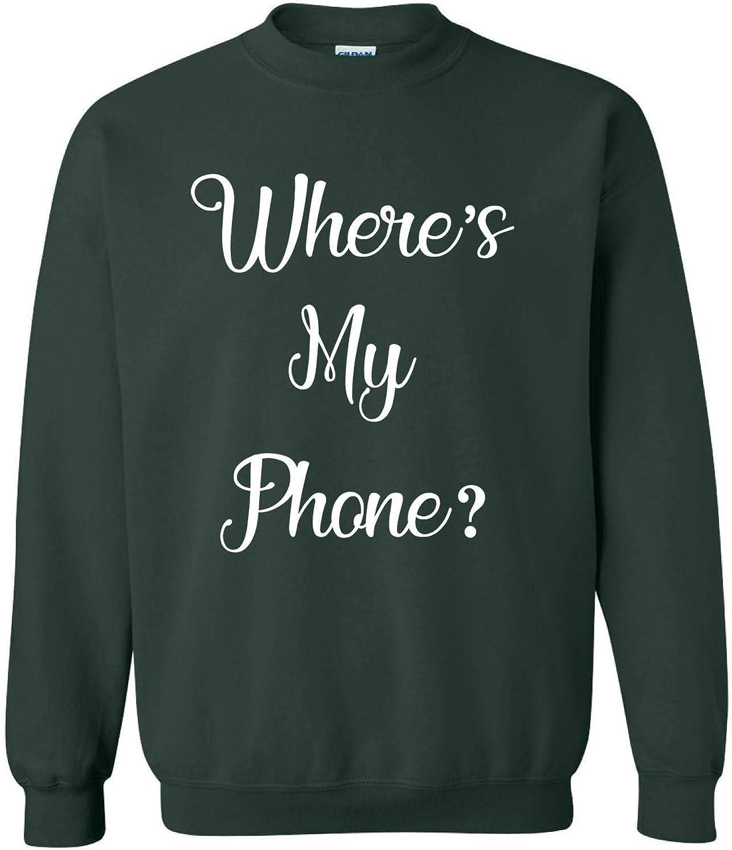 Allntrends Wheres My Phone Adult Sweatshirt