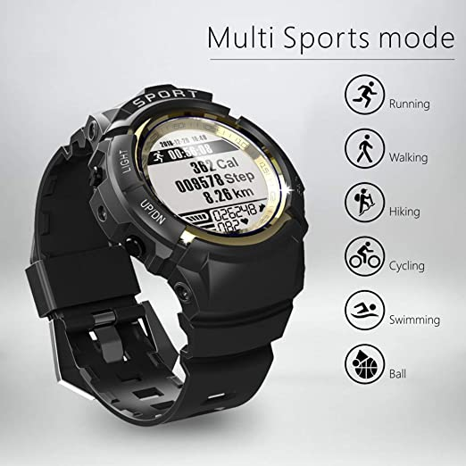 Sport Watch for Men Smart Fitness Activity Tracker IP68 164ft Waterproof with HR Heart Rate Monitor, Step/Calorie Counter, Pedometer, Compass,6 ...