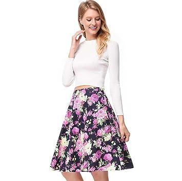 Onfly - Vestido de cintura alta, estilo retro, falda corta ...