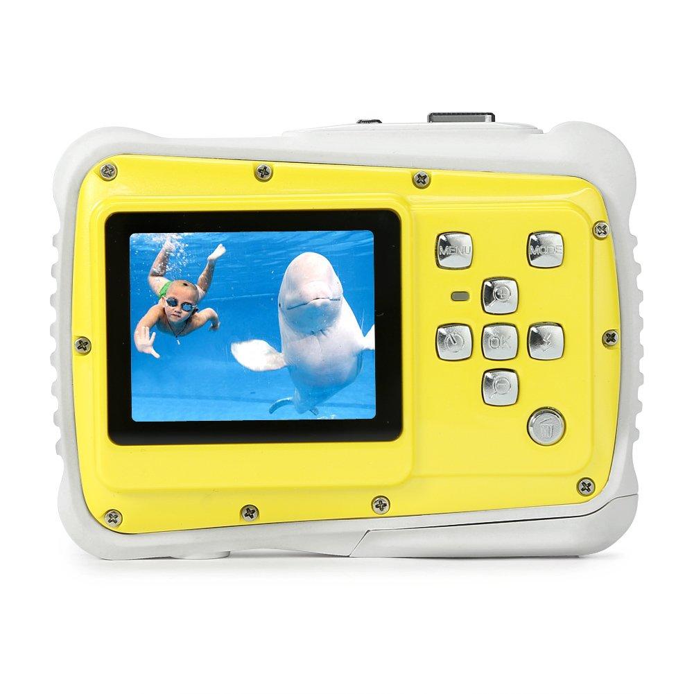 Pellor 2 HD Caméra étanche Mini Anti-Chute pour Enfants (Jaune et Blanc) CAMR01