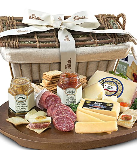 GreatFoods Epicurean Meat and Cheese Premier Gift Basket ()