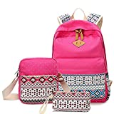 Sammid Canvas Casual Backpack,Fashion Lightweight 3pcs Canvas Big School Backpack Sets Smooth Zipper