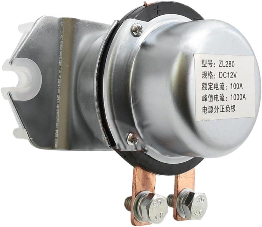 FLAMEER Starter Relais Magnetschalter Batterie Trennschalter Netzschalter 12V 100A Abschalten